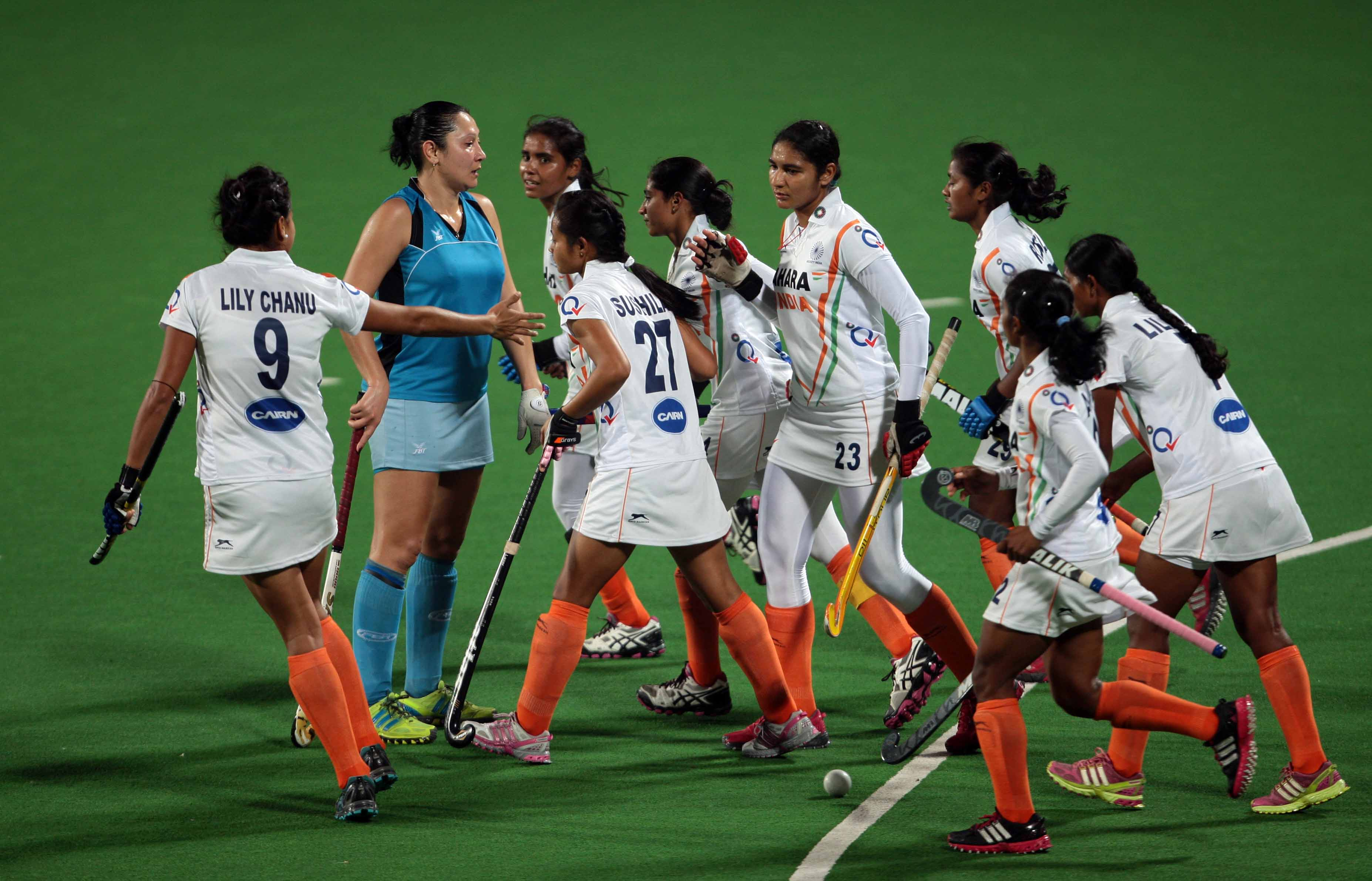 Hockey World League Indian Eves Start On A Winning Note Thrash