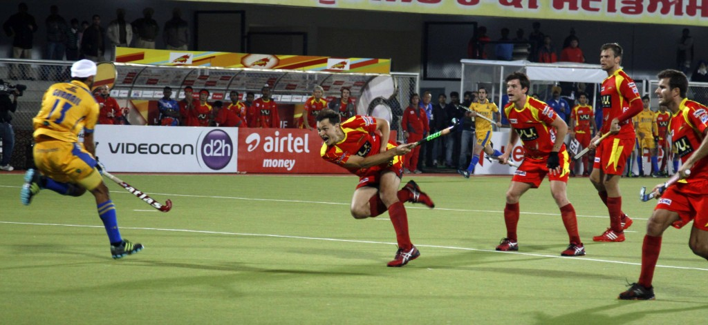 Justin Reid Ross scored a third victory goal for RR against JPW at Jalandhar.