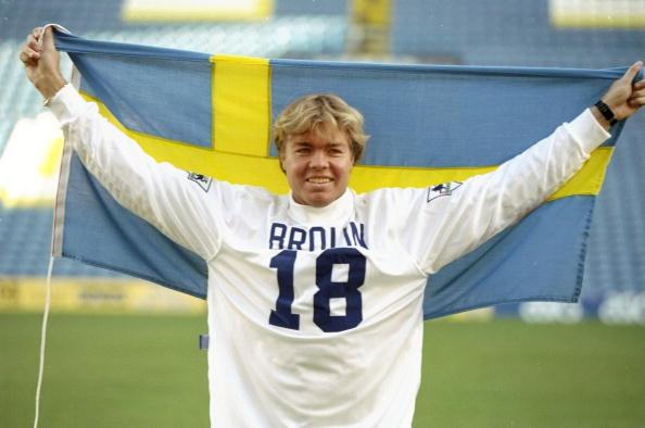 Tomas Brolin of Leeds United