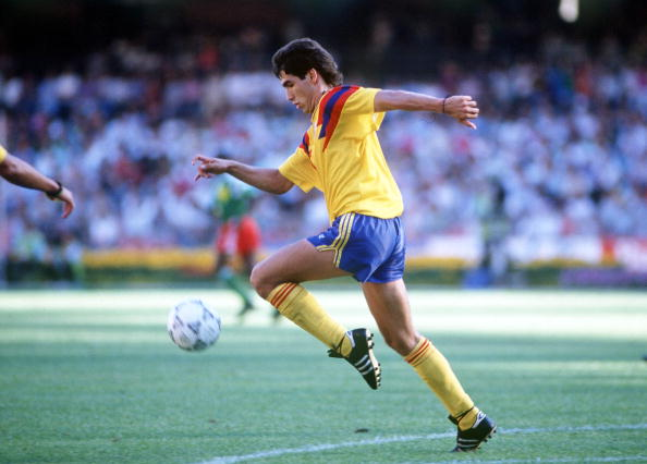 1990 World Cup Finals. Second Phase. Naples, Italy. 23rd June, 1990. Cameroon 2 v Colombia 1. Colombia's Andres Escobar.
