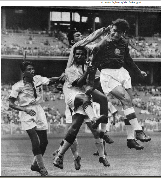 Indian team in action in the 1956 Summer Olympics, Melboune