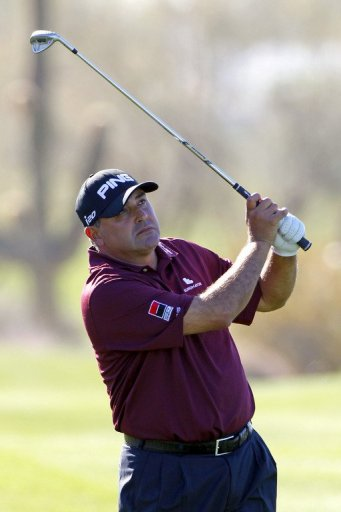 Angel Cabrera, seen in action during the Waste Management Phoenix Open at TPC Scottsdale, on February 1, 2013