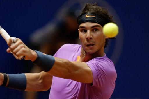 Rafael Nadal is pictured during a Brazil Open match in Sao Paulo on February 17, 2013
