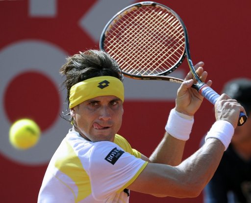 David Ferrer is pictured during a Buenos Aires ATP Open match on February 24, 2013