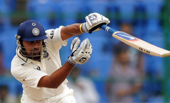 Indian cricketers Murli Vijay plays a sh
