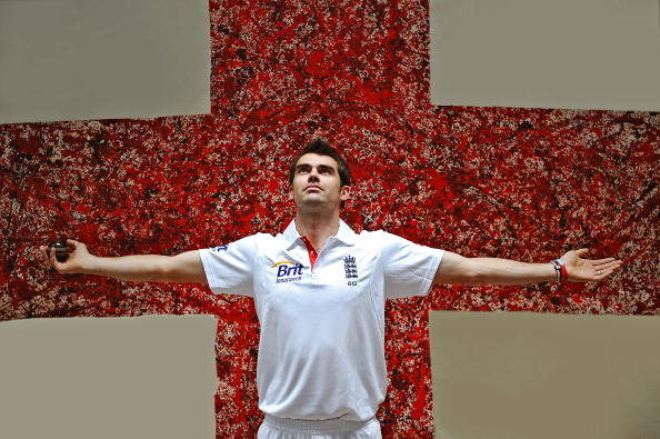 England Cricketer James Anderson Portrait Session