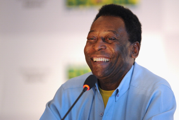 RIO DE JANEIRO, BRAZIL - JULY 29:  Pele speaks to the media during his official presentation as honorary ambassador for the 2014 FIFA World Cup at the Modern Art Museum of Rio de Janeiro on July 29, 2011 in Rio de Janeiro, Brazil.  (Photo by Michael Regan/Getty Images)