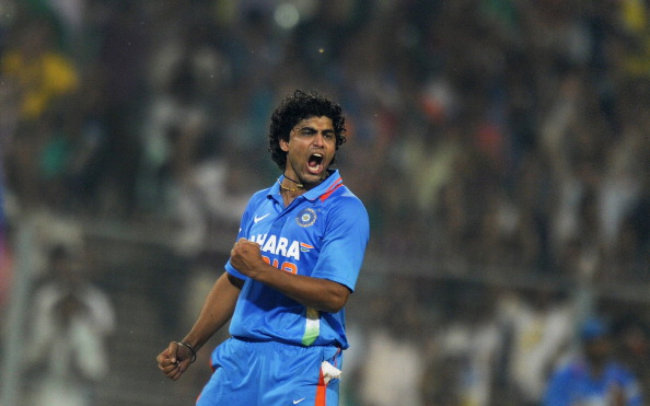 Indian cricketer Ravindra Jadeja celebra
