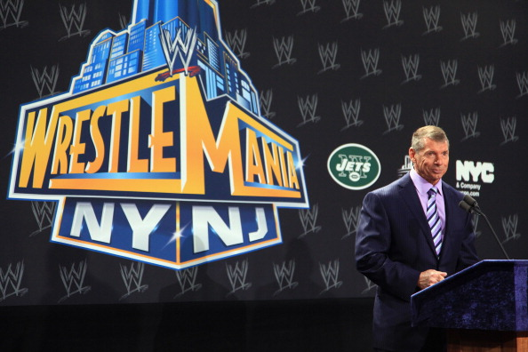 Vince McMahon, Owner of the WWE, at a press conference