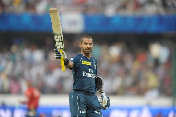 Deccan Chargers batsman Shikar Dhawan ra
