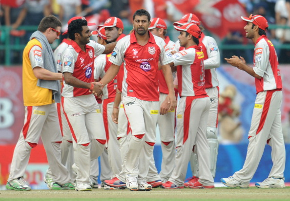 Kings XI Punjab bowler Praveen Kumar (C)
