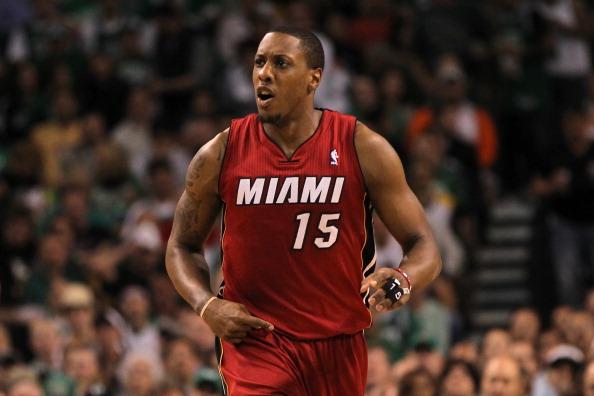 Mario Chalmers #15 of the Miami Heat.