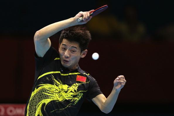 File Photo: Zhang Jike of China.