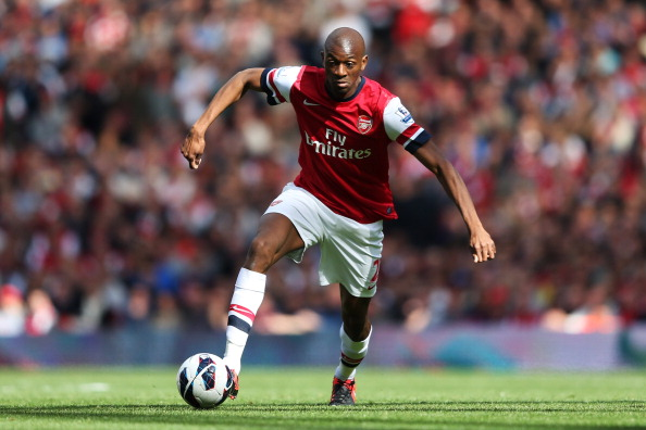 Arsenal's Abou Diaby in action during the Barclays Premier League match between Arsenal and Chelsea at Emirates Stadium on September 29, 2012 in London, England.  (Photo by Richard Heathcote/Getty Images)