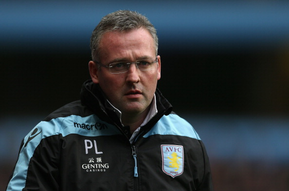 Aston Villa manager, Paul Lambert