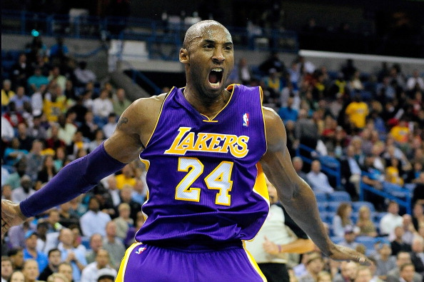 Kobe Bryant #24 of the Los Angeles Lakers is trying to led his team to a play0ff spot.