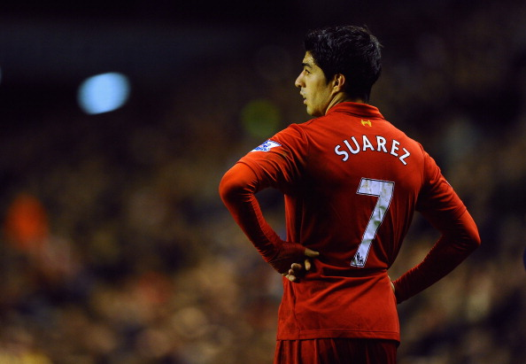 Will he or won't he: Luis Suarez has been linked with moves to Bayern and Juventus in recent weeks. (Getty Images)