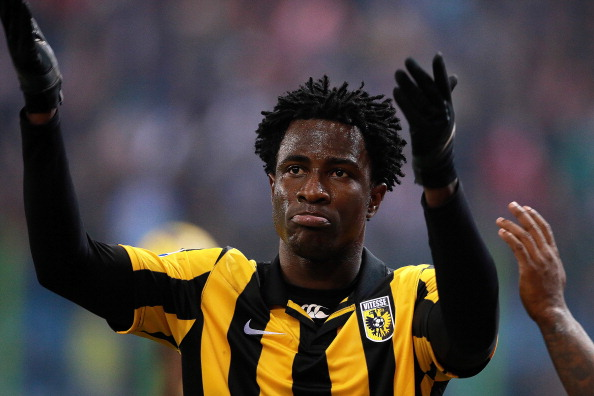 Wilfried Bony of Vitesse has lit up the league with 26 goals in 24 matches this season and has been linked to a big money moves to Chelsea. (Getty Images)