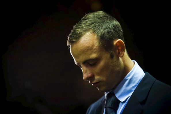 February 22, 2013, in Pretoria, South Africa. Pistorius is accused of the murder of Reeva Steenkamp on February 14, 2013.  This marks day 4 of his bail hearing (Photo by Alet Pretorius/Foto24/Gallo Images/Getty Images)