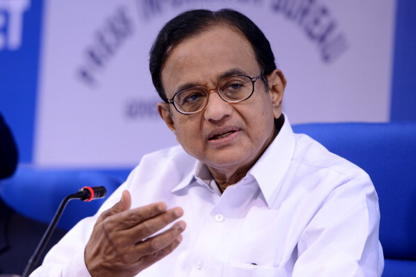 P Chidambram addresses media