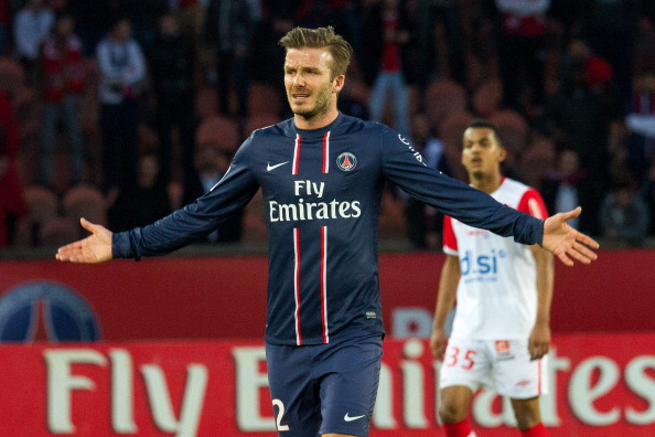David Beckham is the only Englishman left in the Champions League