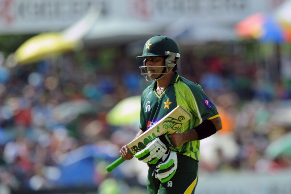 Hafeez has endured a torrid time at the hands of Dale Steyn. (Getty Images)