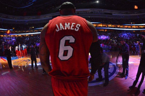 LeBron James #6 of the Miami Heat is the favourite to win the MVP award.