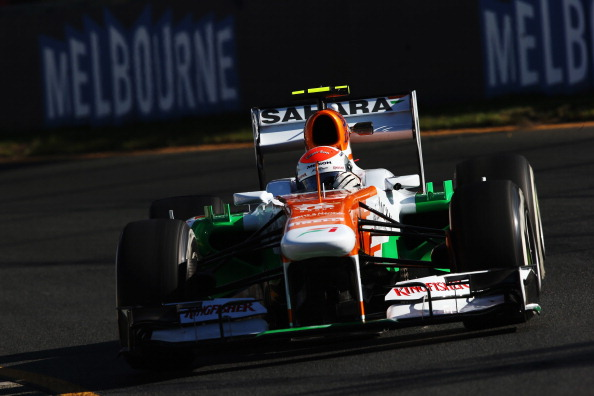 MELBOURNE, AUSTRALIA - MARCH 15:  Adrian Sutil of Germany and Force India drives during practice for the Australian Formula One Grand Prix at the Albert Park Circuit on March 15, 2013 in Melbourne, Australia.  (Photo by Mark Thompson/Getty Images)