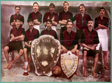 Mohun Bagan's 1911 IFA Shield winning team