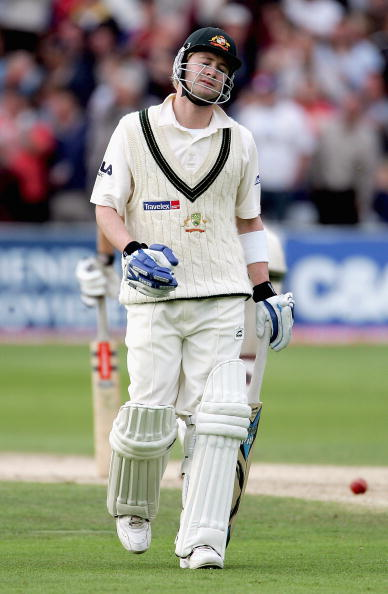 NOTTINGHAM, UNITED KINGDOM - AUGUST 26:  Michael Clarke of Australia looks dejected as he walks off the pitch after his dismissal during day two of the Fourth npower Ashes Test between England and Australia on August 26, 2005 played at Trent Bridge in Nottingham.