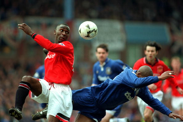 FILE PHOTO: Andy Cole during his days at Old Trafford.