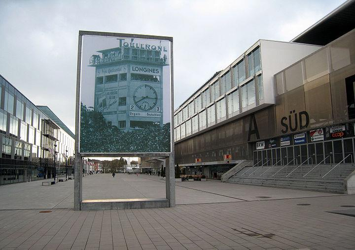 A tribute to the 1954 World Cup final out Stade de Suisse, formerly the Wankhdorf stadium