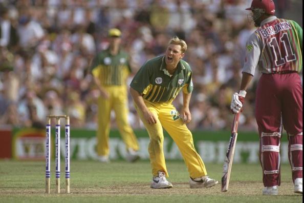 Shane Warne of Australia appeals
