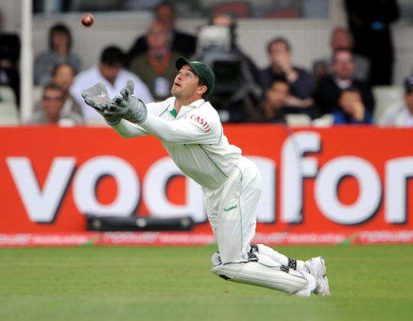South Africa's Mark Boucher catches out