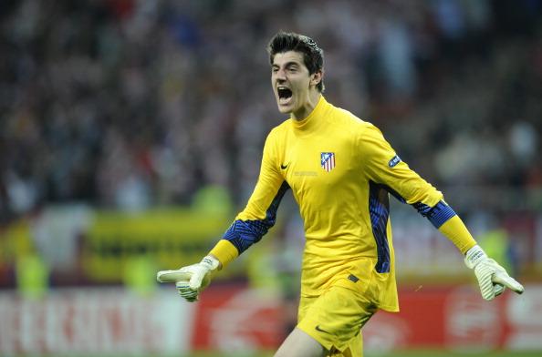 Atletico Madrid's Belgian goalkeeper Thi