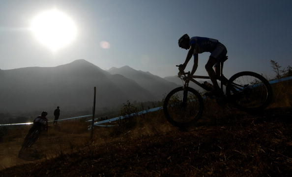 Mountain bikers compete in the 14th Asia