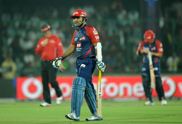 Delhi Daredevils batsman Virender Sehwag