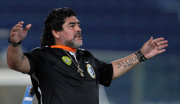 Argentine football legend Diego Maradona