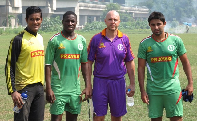 From left – Subrata Pal , Ranti Martins, Coach Eelco Schattorie and Carlos Hernandez