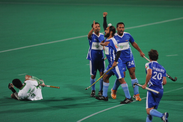 Chandigarh Comets' hockey player Gurjinder Singh (C) is one of the 9 players recalled by Hockey India