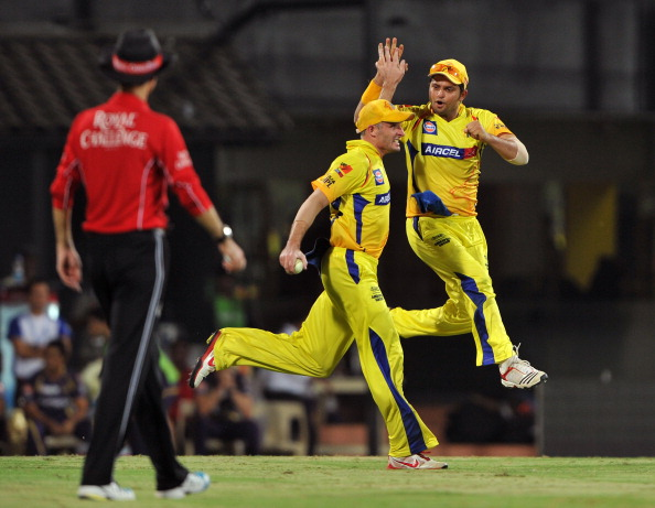 Chennai Super Kings fielder Michael Huss
