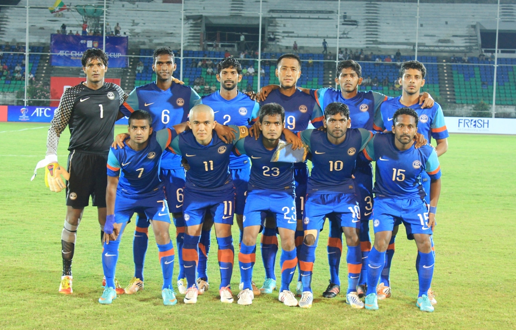 The Indian team that took on Myanmar.