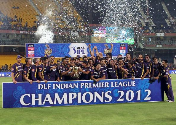 Kolkata Knight Riders players celebrate