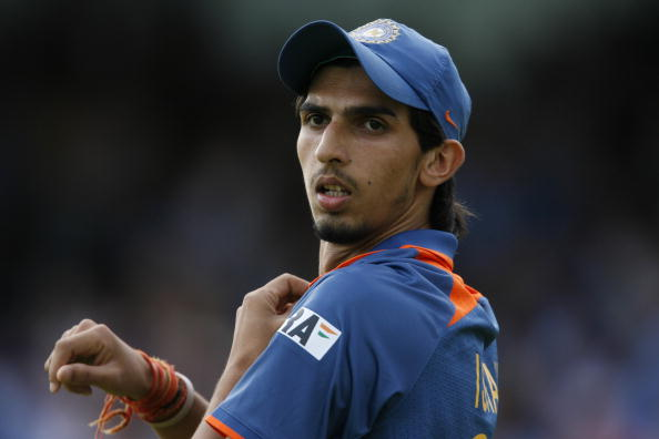 Ishant Sharma of India plays against Eng