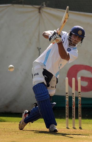 Indian batsman Ravindra Jadeja plays a s