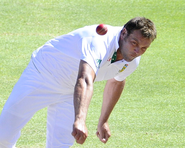 South Africa's  Jacques Kallis bowls on