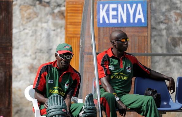 Kenya's cricket team captain Jimmy Kaman