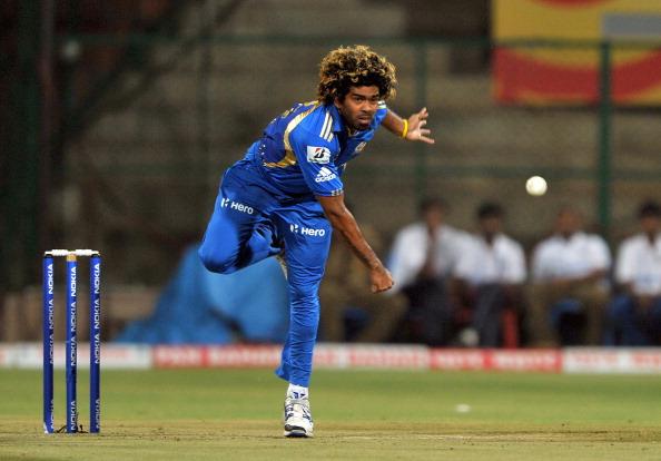 Lasith Malinga of Mumbai Indians bowls d