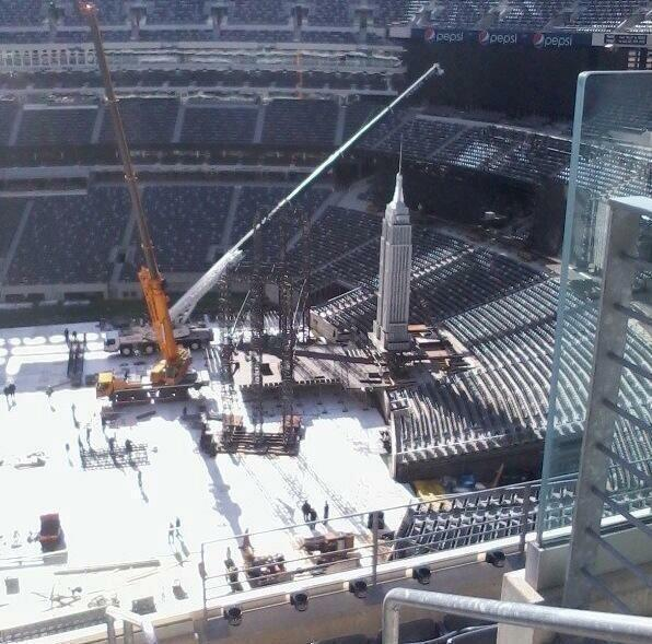 Photo Wrestlemania Set From Inside The Metlife Stadium