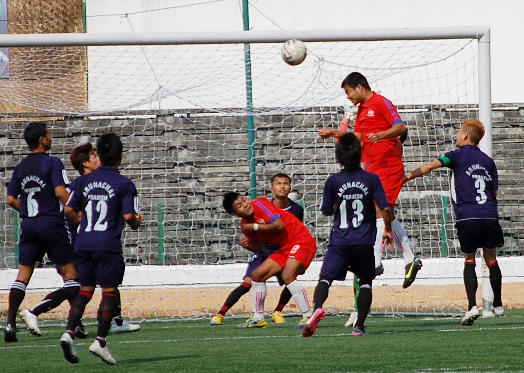 Mizoram (red jersey) Vs Arunachal Pradesh in the First Semi Final (3)
